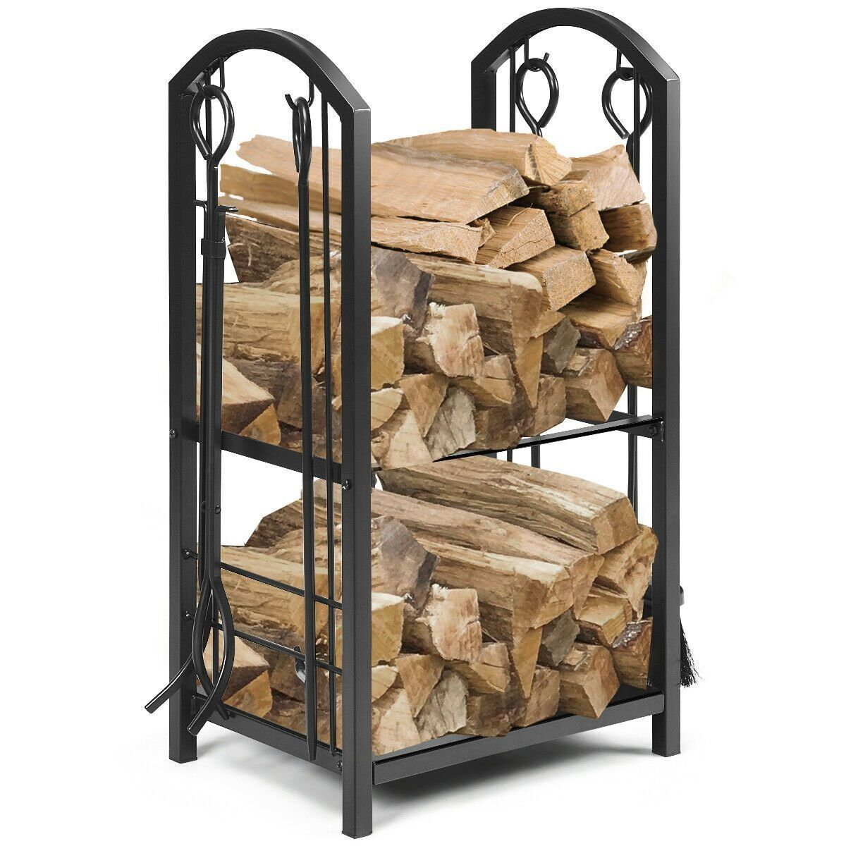 fireplace log rack with 4 tools set fireside firewood on inventive ideas to utilize reclaimed wood pallet projects all you must to know id=85136
