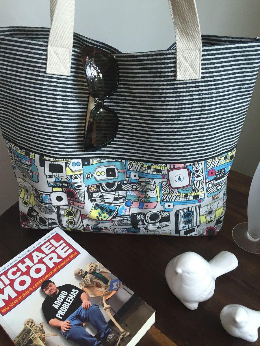 Bolsa Em Tecido Para Praia : Bolsa de praia ou casual