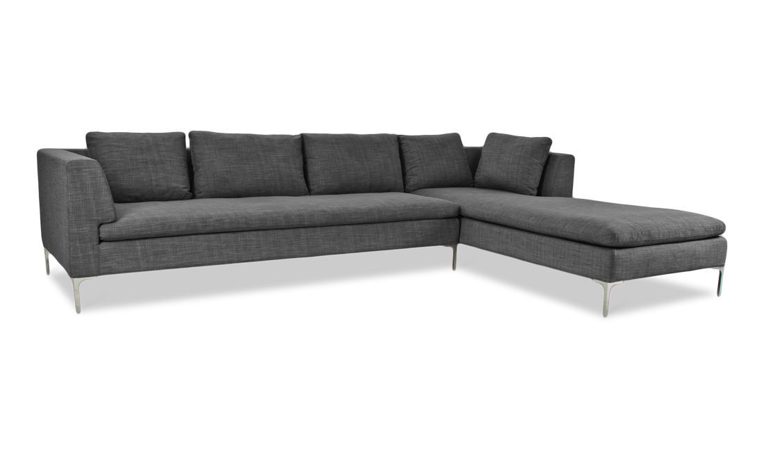 Fesselnd Ecksofa Mayfair Grau Links Günstig Online Kaufen   FASHION FOR HOME