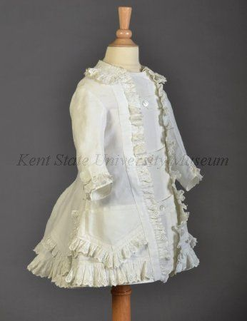 Girl's dress, cotton pique and eyelet, 1870s, American (attributed).