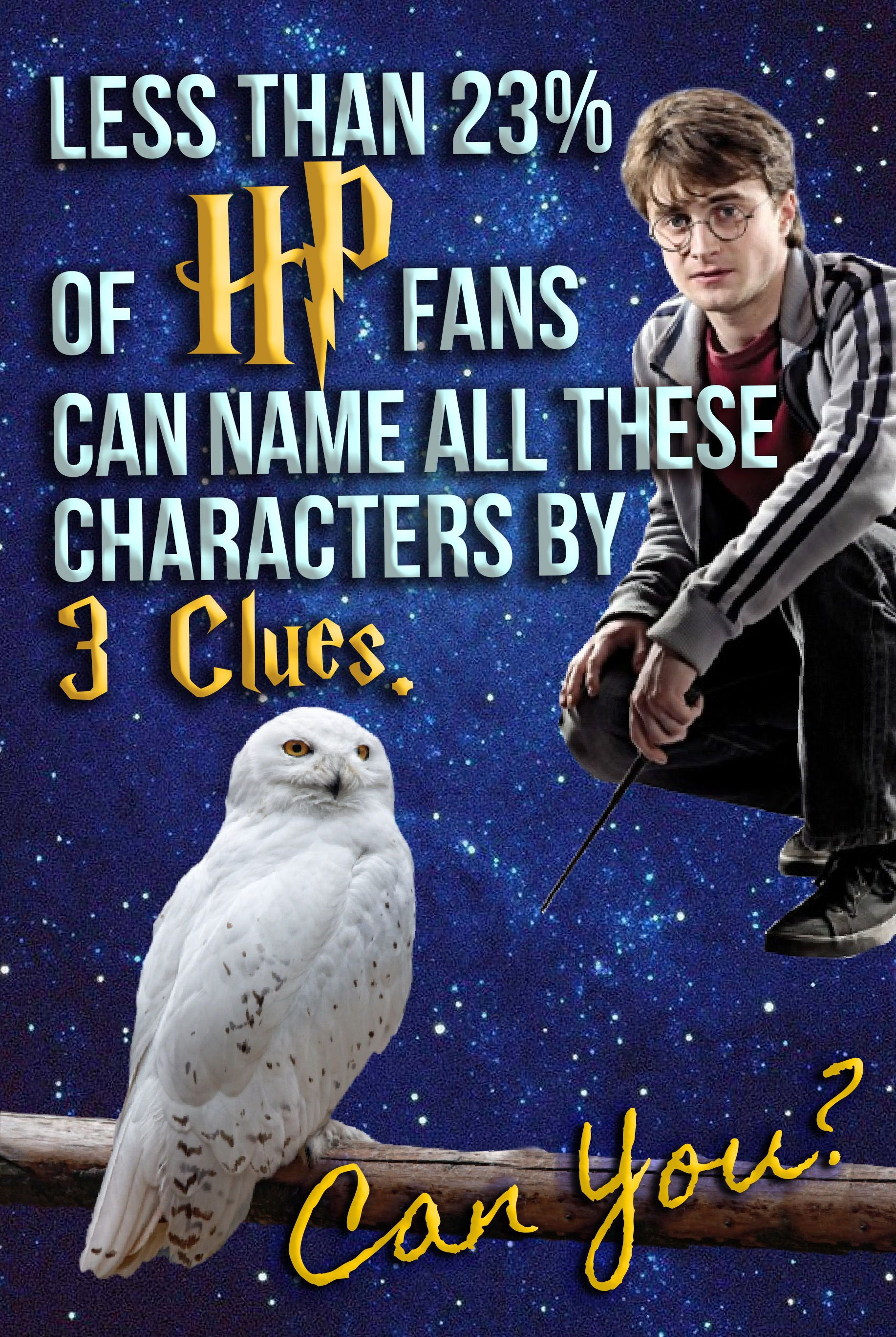 Less Than 23% Of HP Fans Can Name ALL These Characters By 3 Clues
