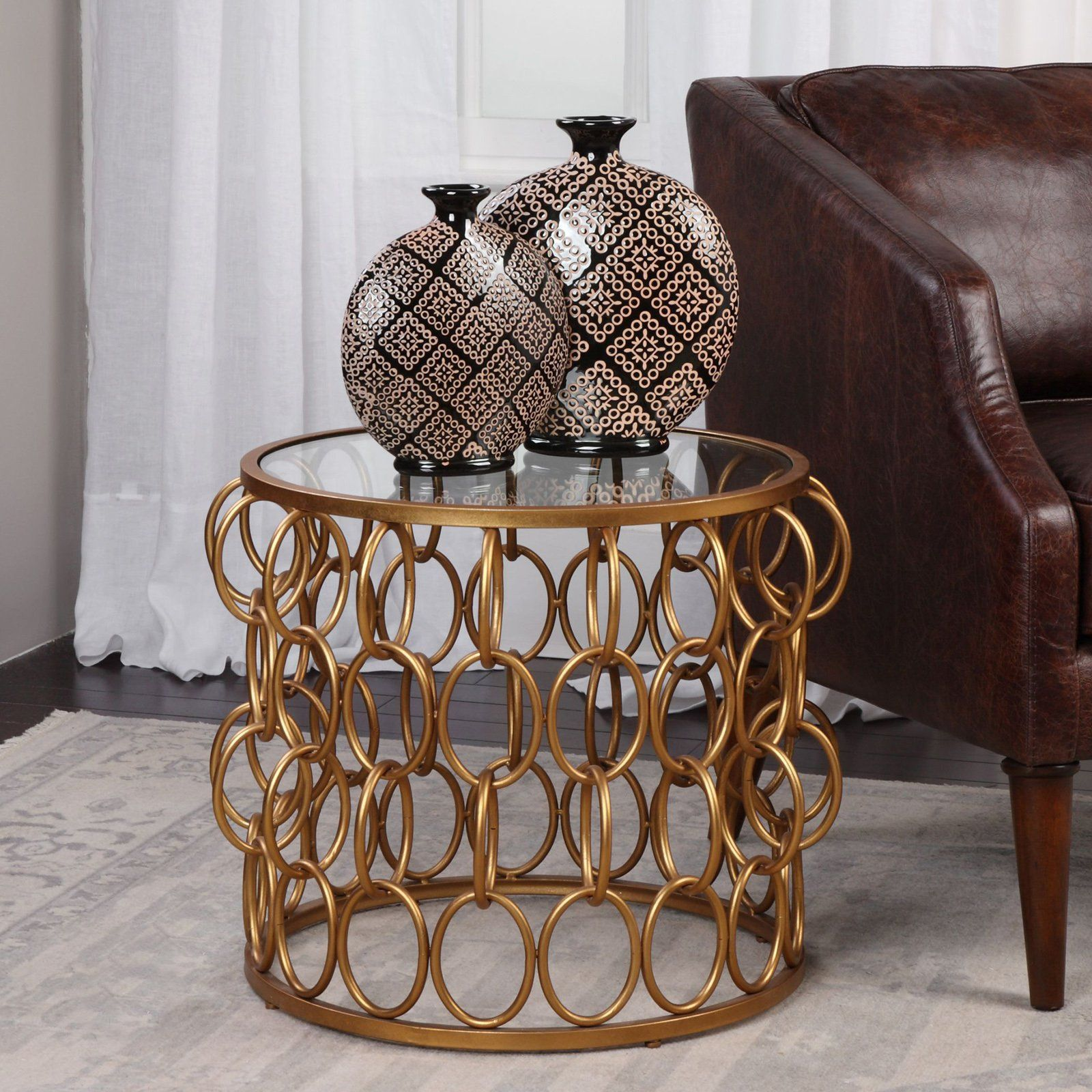 Uttermost dipali gold accent table products pinterest