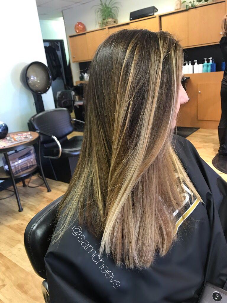 Highlights For Dark Hajr Hair Highlights Hair Highlights And Lowlights Colored Hair Tips