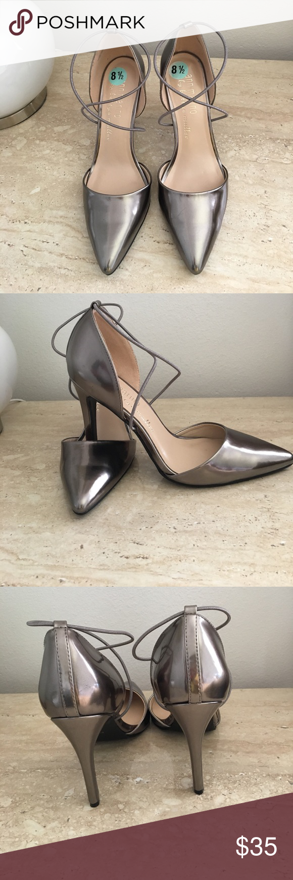 cb98ca3c407775 Ann Marino Silver shoes size 8.1 2 Ann Marino Silver shoes size 8.5. I  tried it once at the store but I never had a chance to wear it.