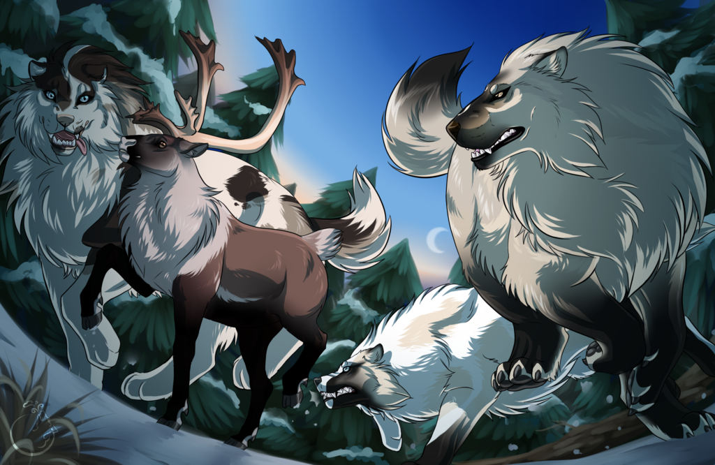 Hunting 5 by WolfsMoon1 on DeviantArt Anime wolf, Animal