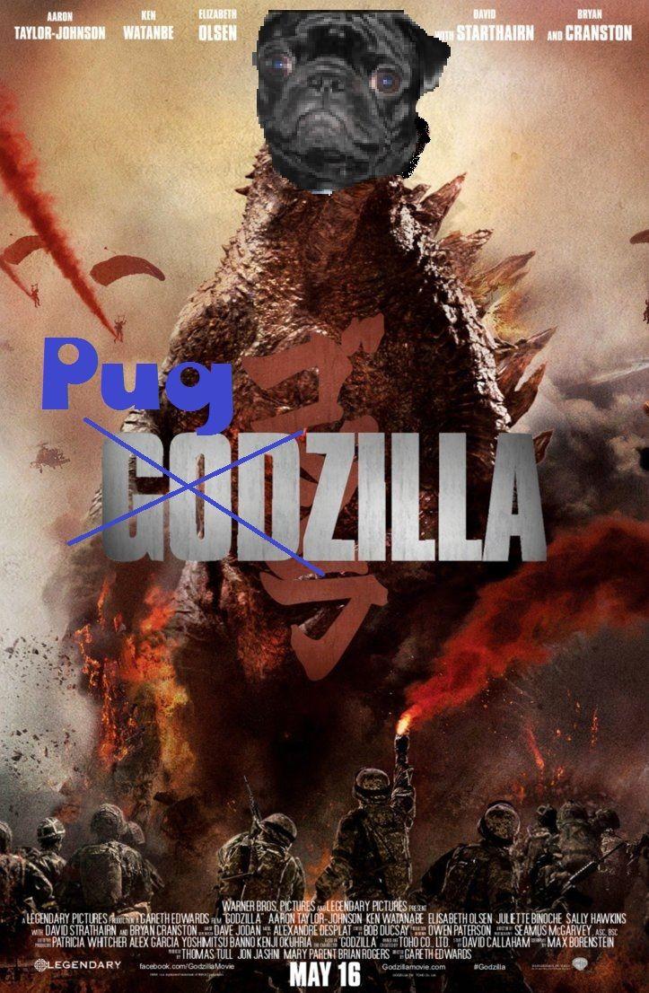 Run for your life!!! It's PUGZILLA!! (Rocky) Godzilla