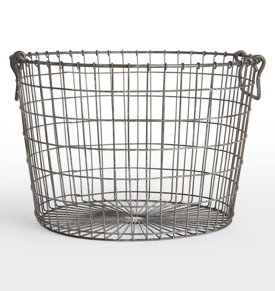 Round Wire Basket | Wire basket, Rounding and Laundry
