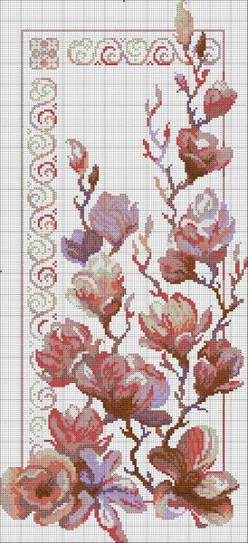Картинка   Цветы, вышитые крестиком, Роза вышивка крестом ...