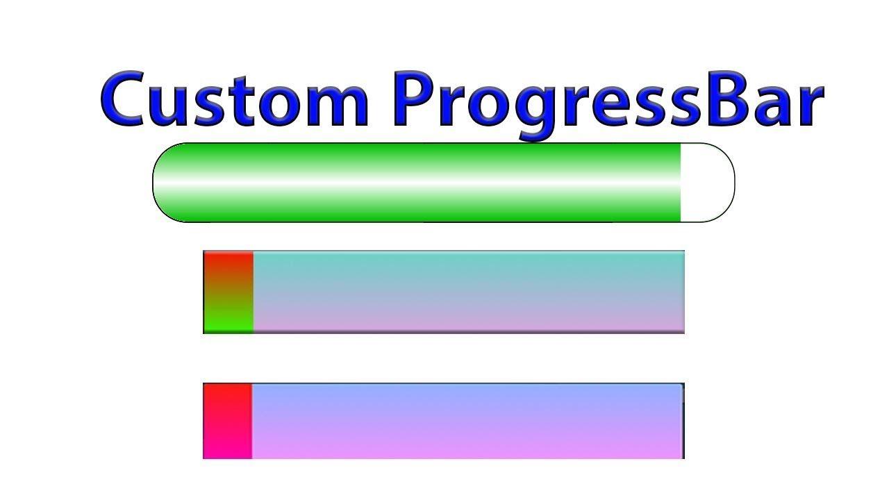 How to create custom progress bar in android progress