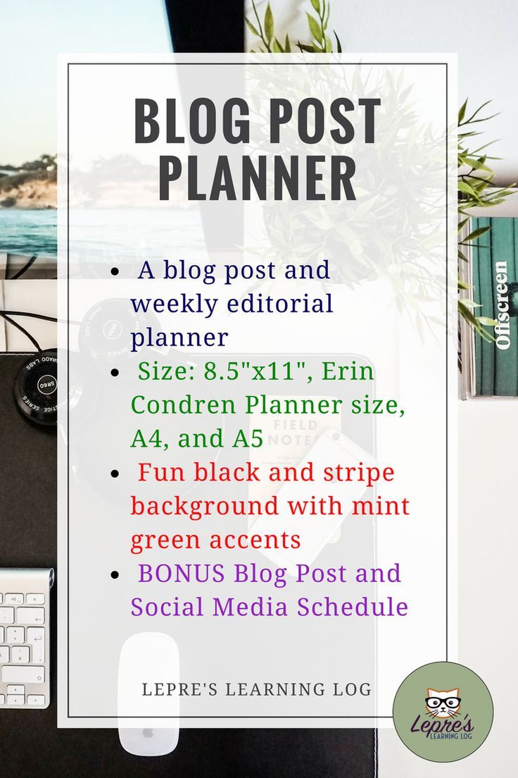Blogging planner for teachers and students multiple sizes for your an important part of writing a good blog post is carefully planning out your message from maxwellsz