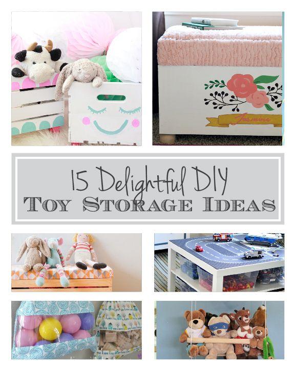 15 Delightful DIY Toy Storage Ideas to keep your house organized! | littleredwindow.com