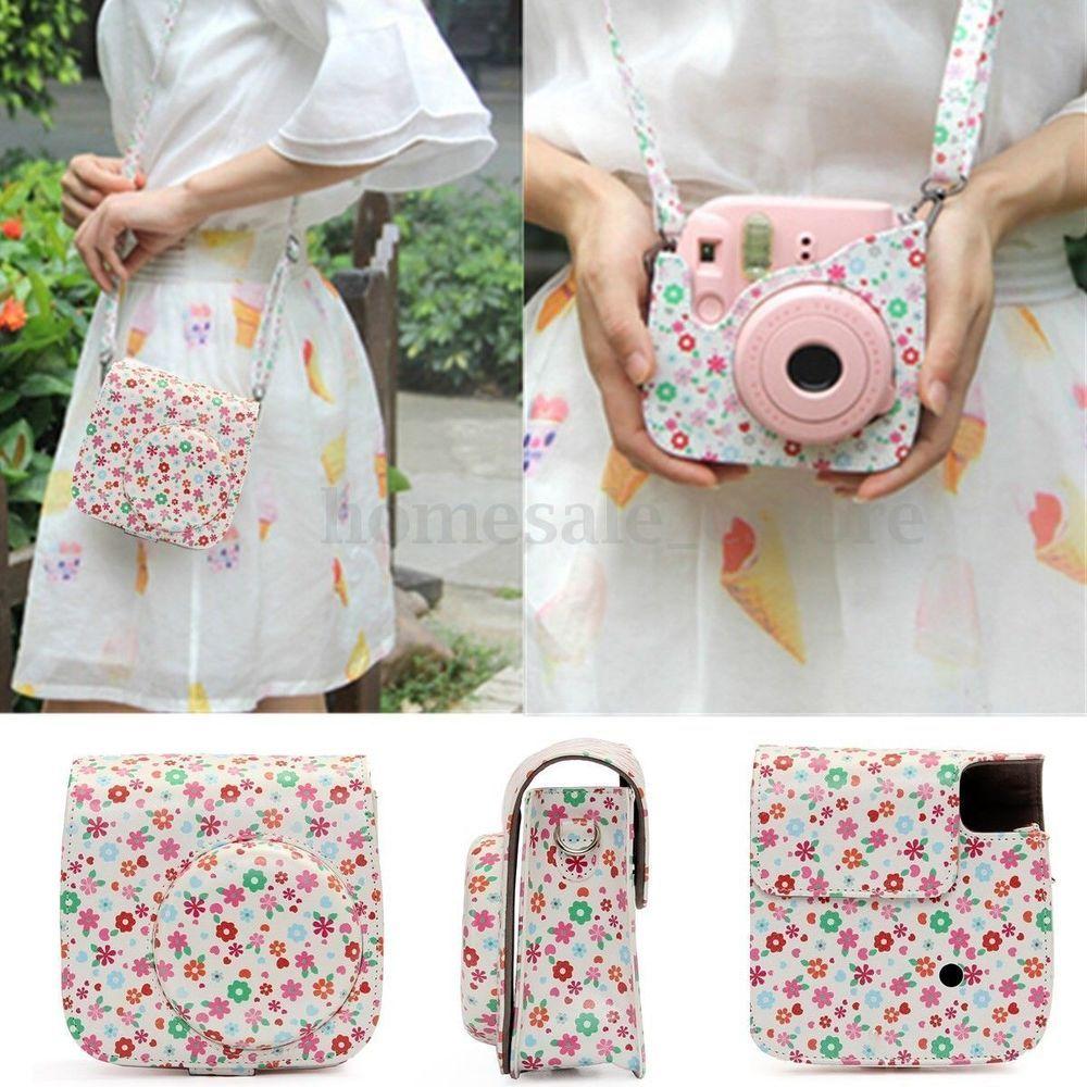 Instant Camera Leather Case Bag Cover Pouch for Fuji   Polaroid Mini8