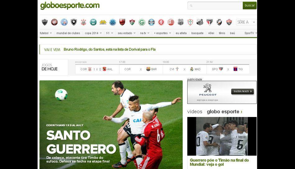 FOTOS: Paolo Guerrero acapara la atención de la prensa internacional por su gol con Corinthians