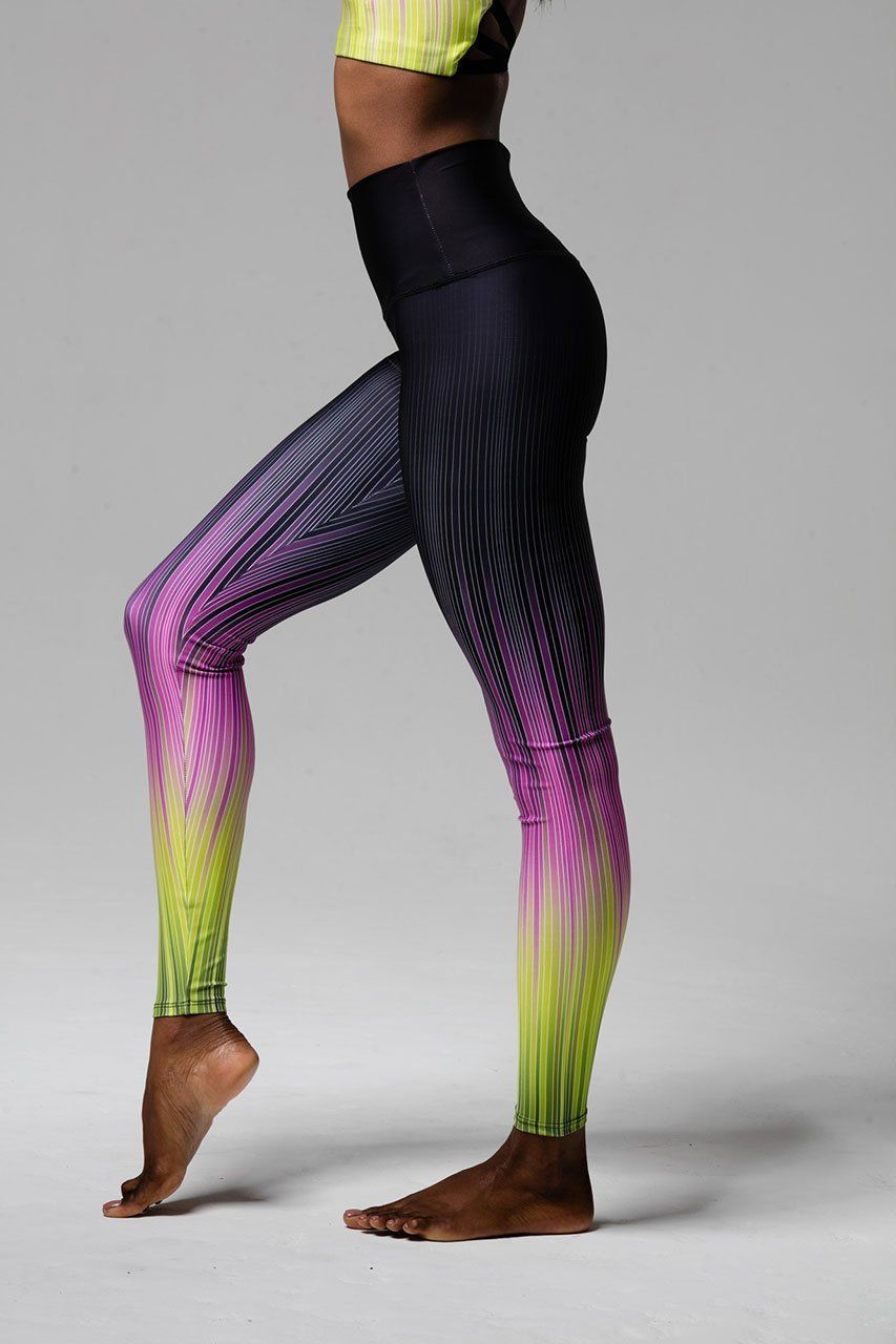 8cfae8cc53c9c5 Onzie High Rise Graphic Legging - Pinstripe | Products | Funky ...