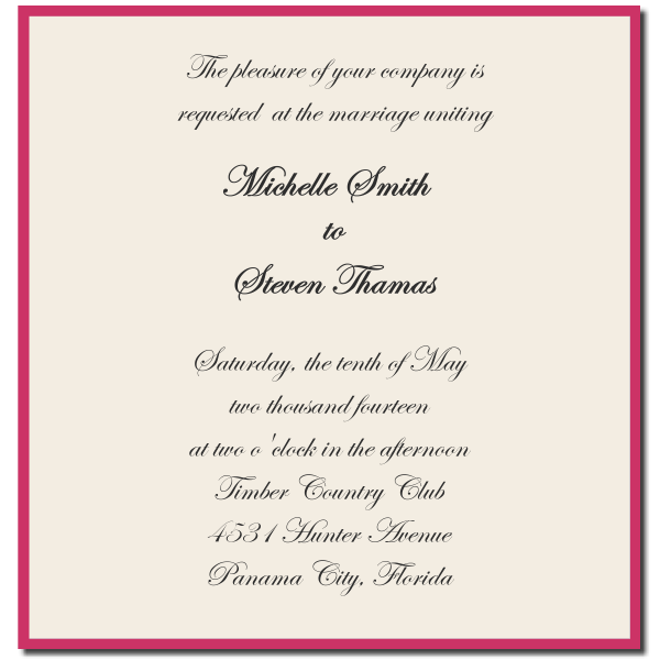 wedding invitation etiquette and wedding invitation wording – Sample Formal Wedding Invitation Wording