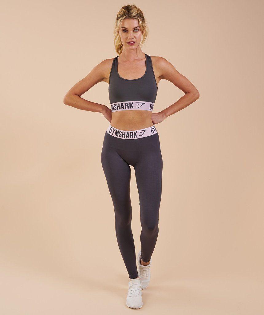 55a9f52101f1b Gymshark Fit Leggings - Charcoal Chalk Pink 1