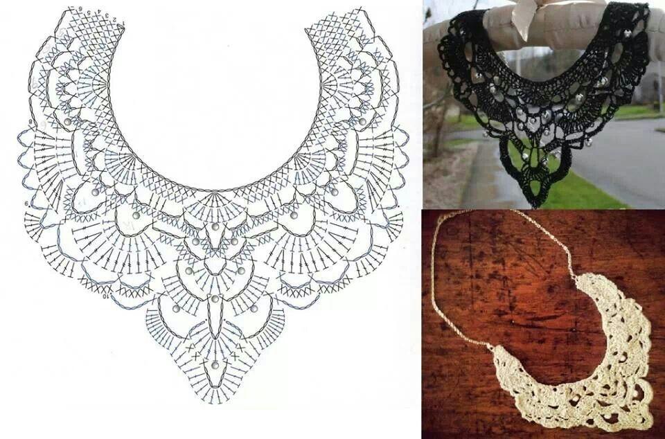Cuello o collar diagrama | bufandas, chales y cuellos | Pinterest ...