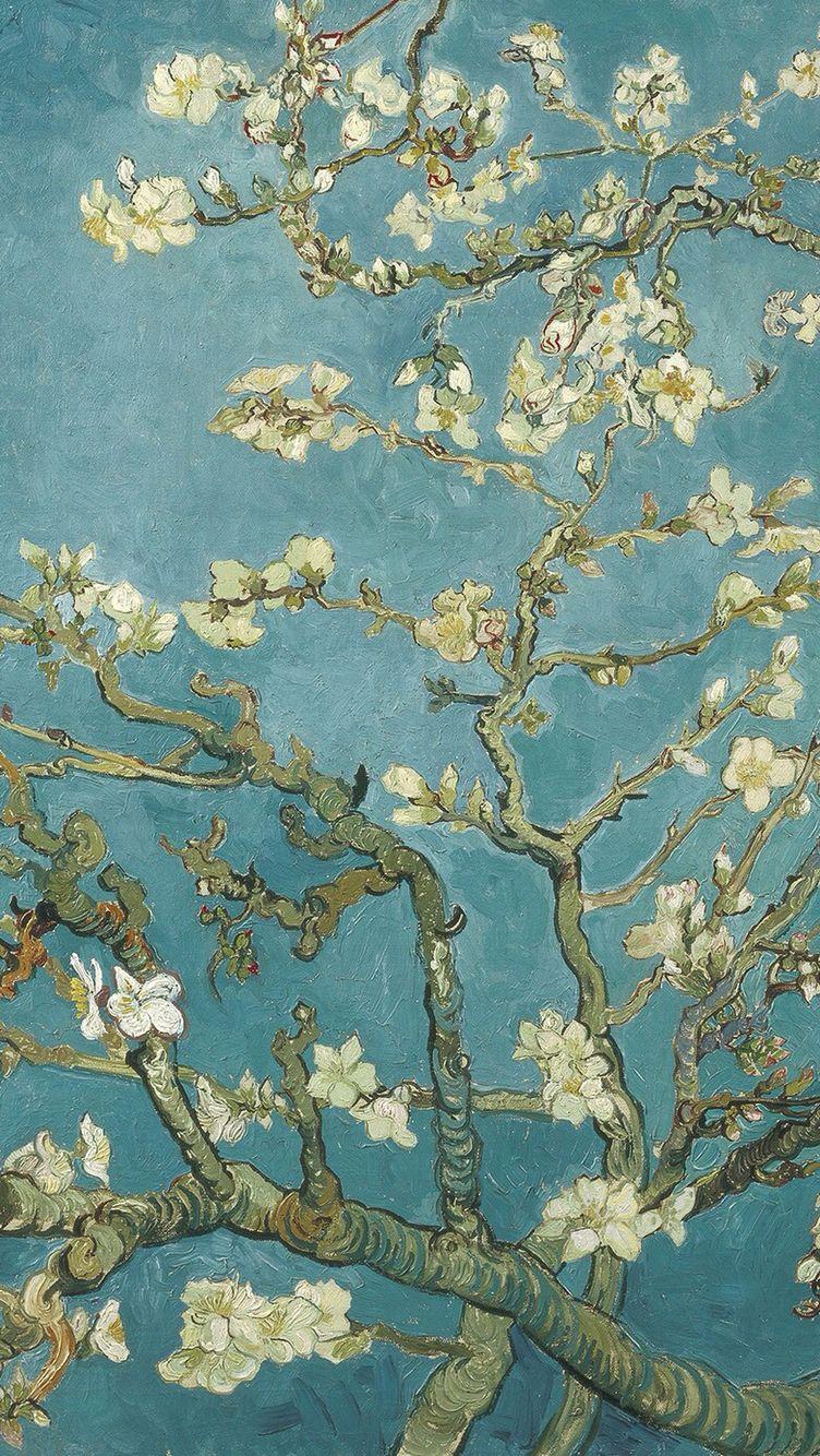 Van Gogh's painting in iPhone wallpaper | It's Van Gogh | 예술, 유화 e 배경화면