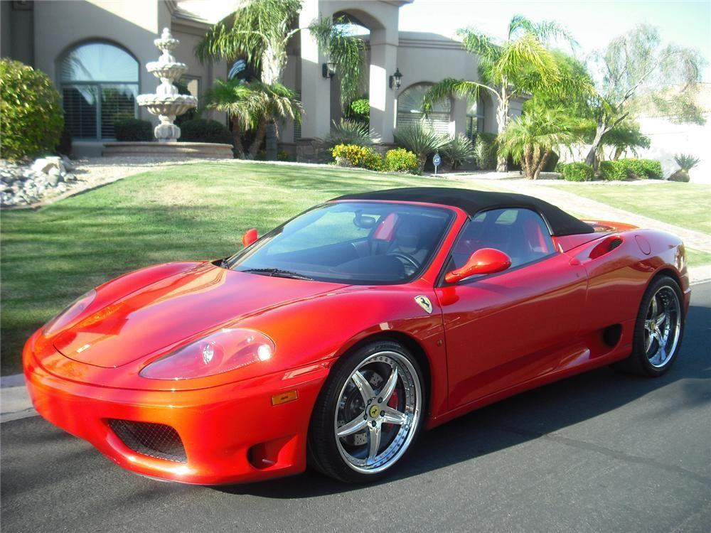 2001 Ferrari 360 Spider Triple Pearl White Automatic 6sp A