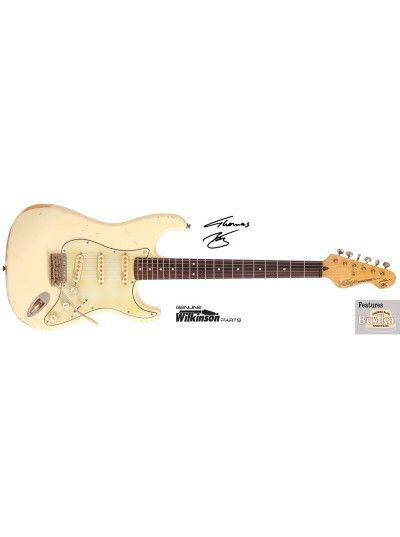 Vintage Icon Series V6mrtbg Thomas Blug Signature Model Distressed Vintage White Vintage Icons Electric Guitar Guitar