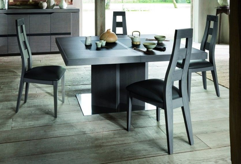Découvrez les caractéristiques de la table de salle à manger TERRA - table de salle a manger grise