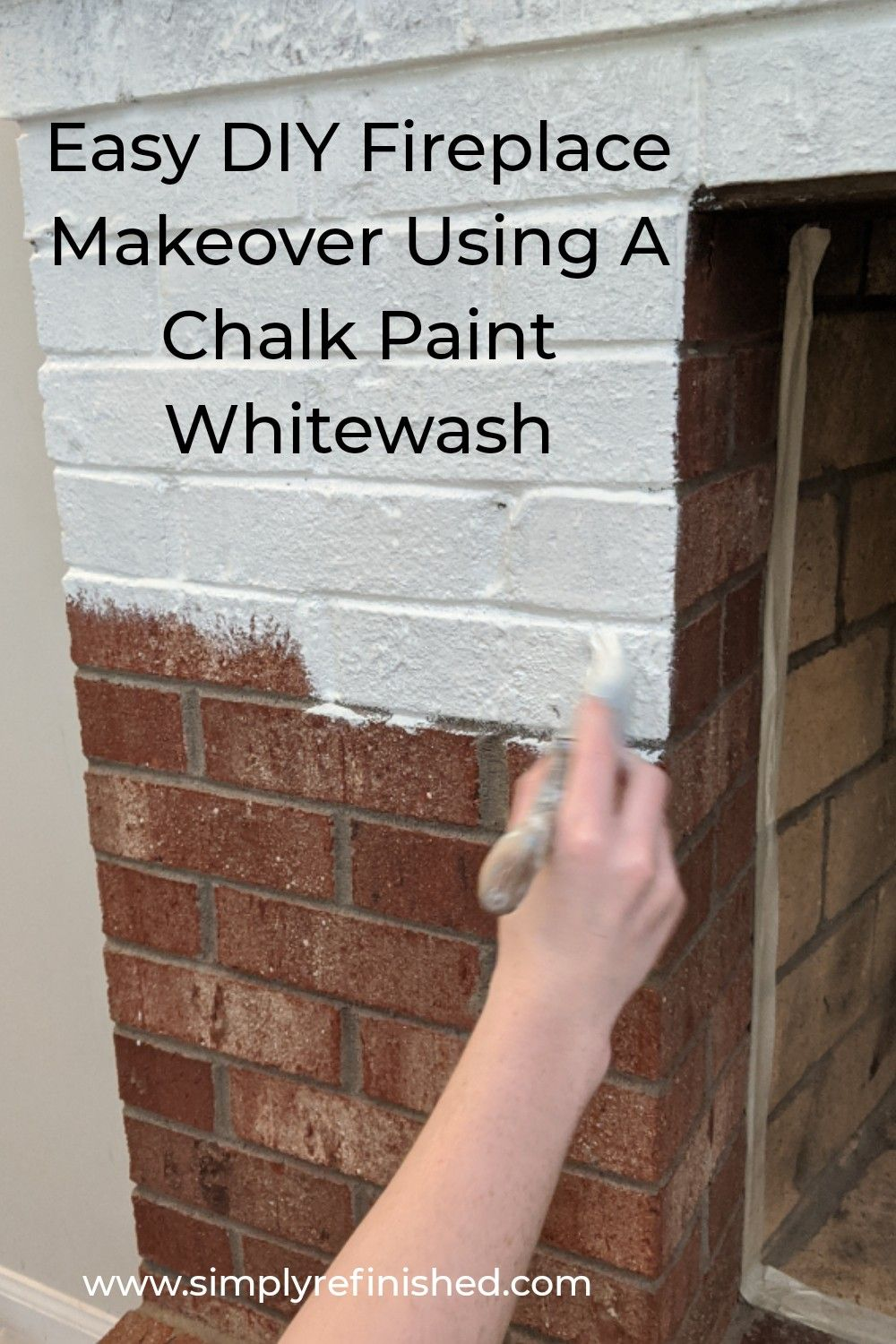 How To Whitewash Brick Fireplace In 2020 White Wash Brick Fireplace Brick Fireplace Red Brick Fireplaces