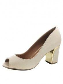 b2daec1cb Sapato Luz da Lua Peep Toe Metal | Style | Fashion, Shoes e Peep toe
