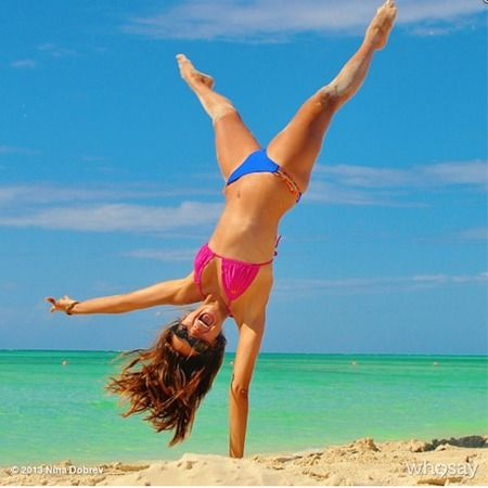 Vampire Diaries' Nina Dobrev shares her secrets to beach body confidence. www.handbag.com
