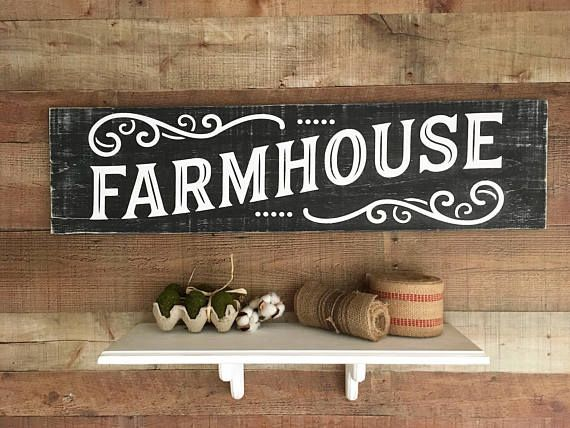 Large Country Farmhouse Sign Rustic Charm Country Kitchen Wall Art