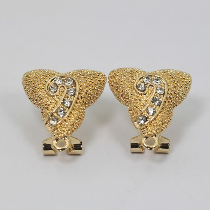 Find More Jewelry Findings Components Information About Pretty Rhinestone Fashion Earrings Base Hooks Gold Plated Top Earring