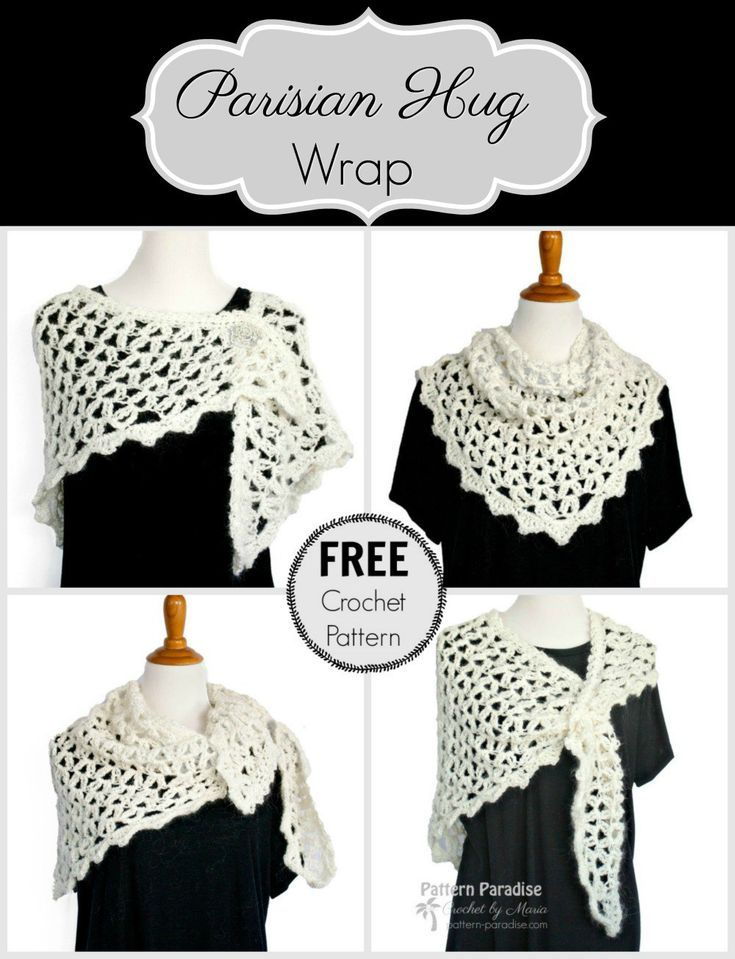 Free Crochet Pattern: Parisian Hug Wrap & Giveaway | Crochet shawl ...