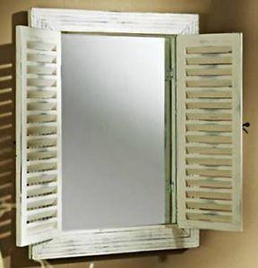 spiegel wandspiegel mit fensterl den landhaus holz wei ebay g stebad for the home. Black Bedroom Furniture Sets. Home Design Ideas