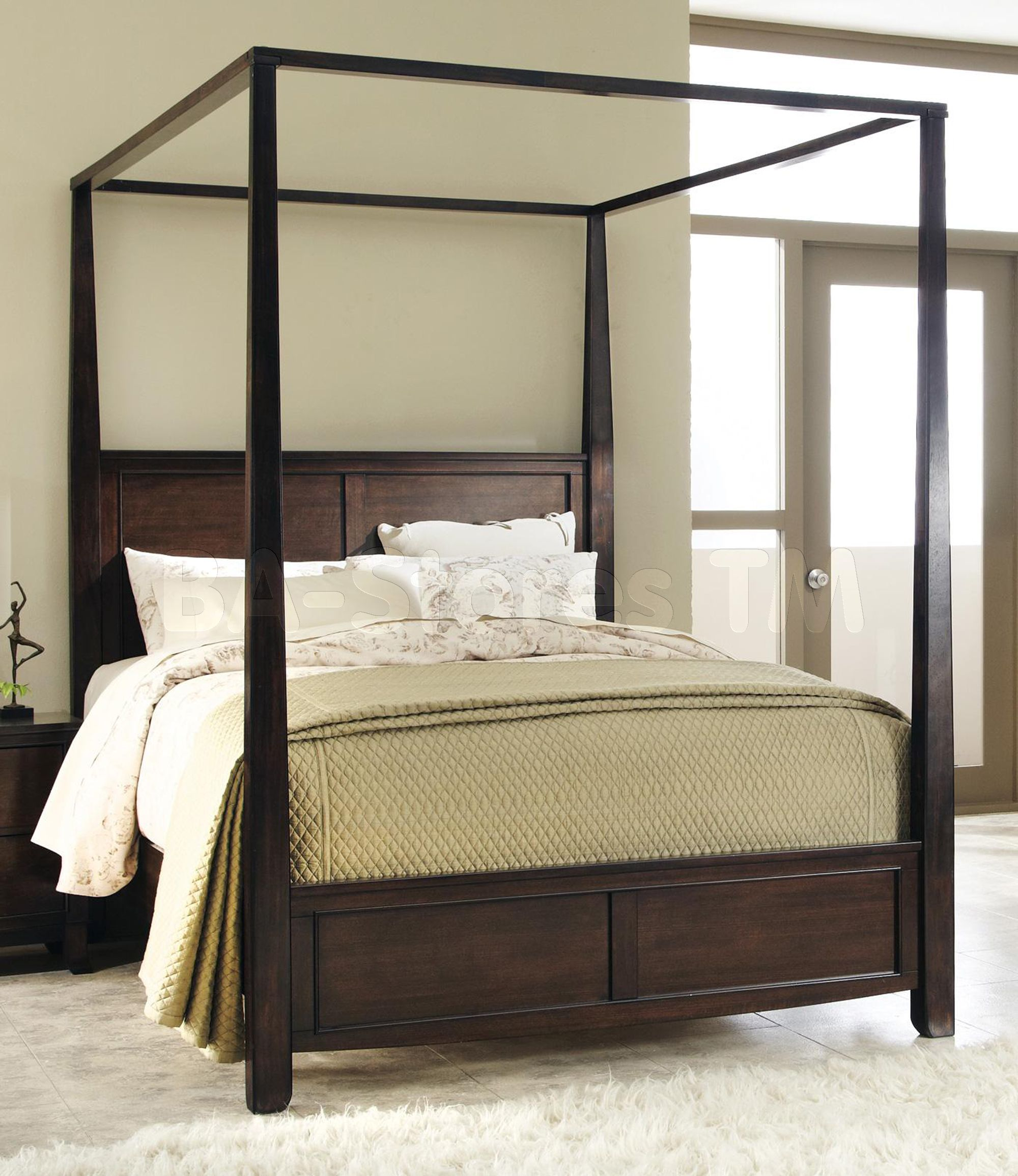 Beds Dramatic Canopy Bed COA202931/3 Canopy bedroom