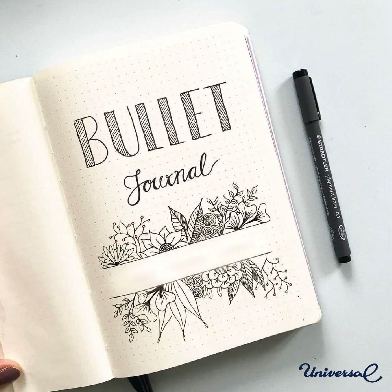 Floraler Kranz mit Fineliner und Brushlettering img2516 First page of bullet journal Cant decide whether or not to add color to my cover this year  bulletjournal keymin...