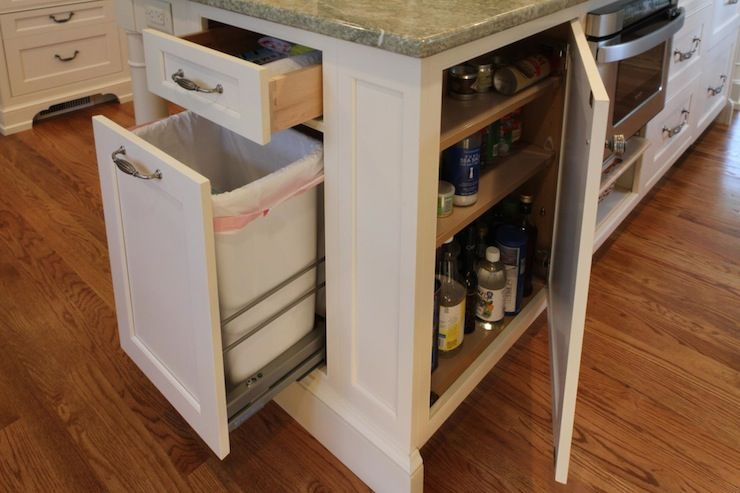 DIY Pull Out Trash Can In A Kitchen Cabinet Amazing Idea DIY - Kitchen island with garbage bin