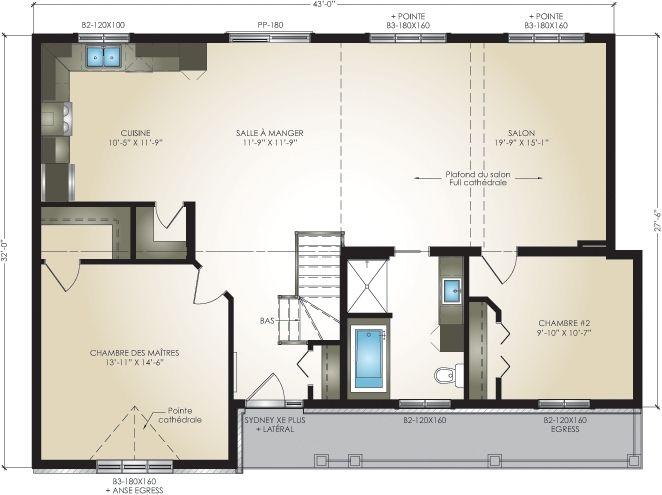 Plan Of The Ground Floor / Plan Du Rez De Chaussée