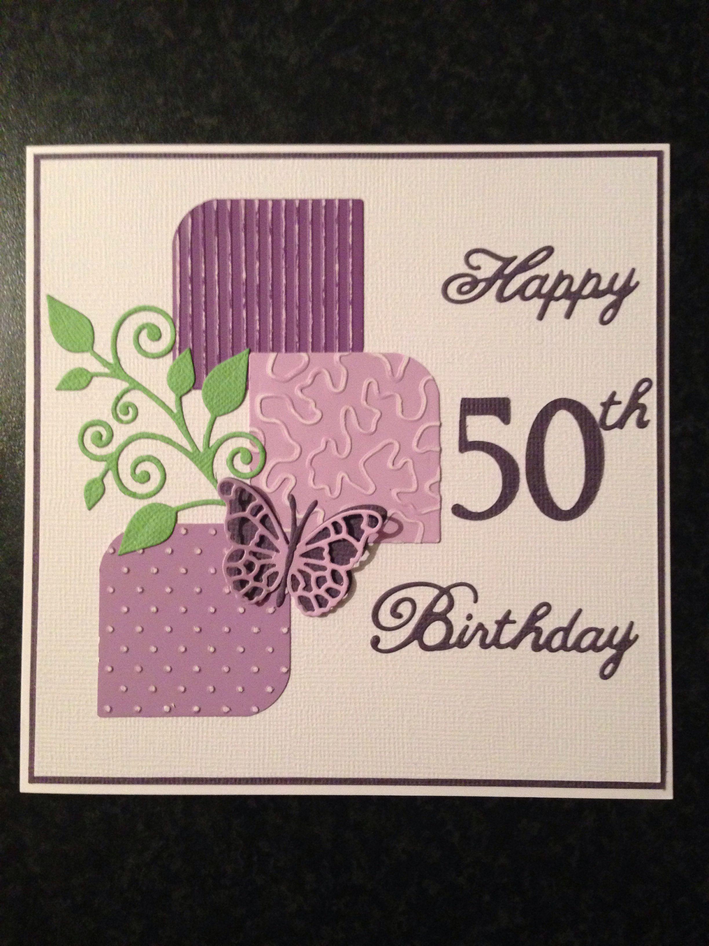 50th Female Birthday Card 50th Birthday Cards For Women Birthday Cards For Women Birthday Cards