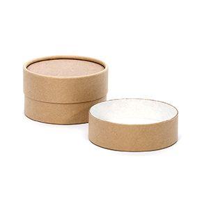 4 oz  Brown Paperboard Jar with Flush Fit Lid   Packaging