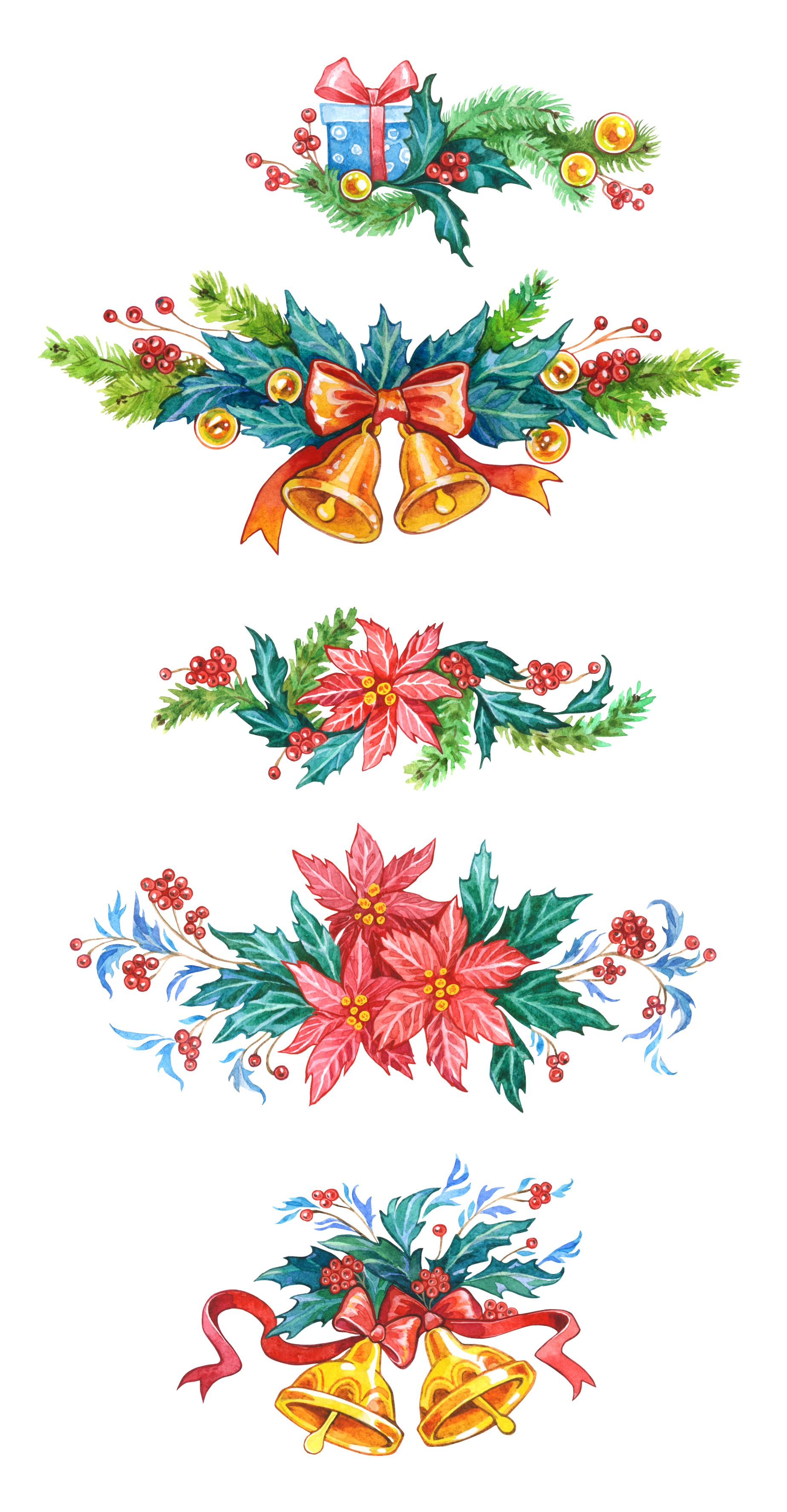 Elf Watercolor Clipart Elf Christmas Card Christmas Clipart