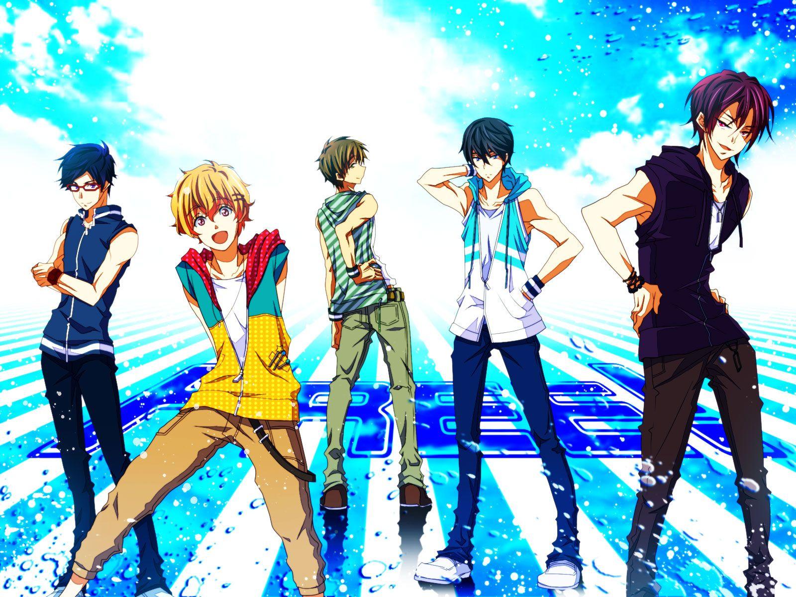 download anime free iwatobi swim club