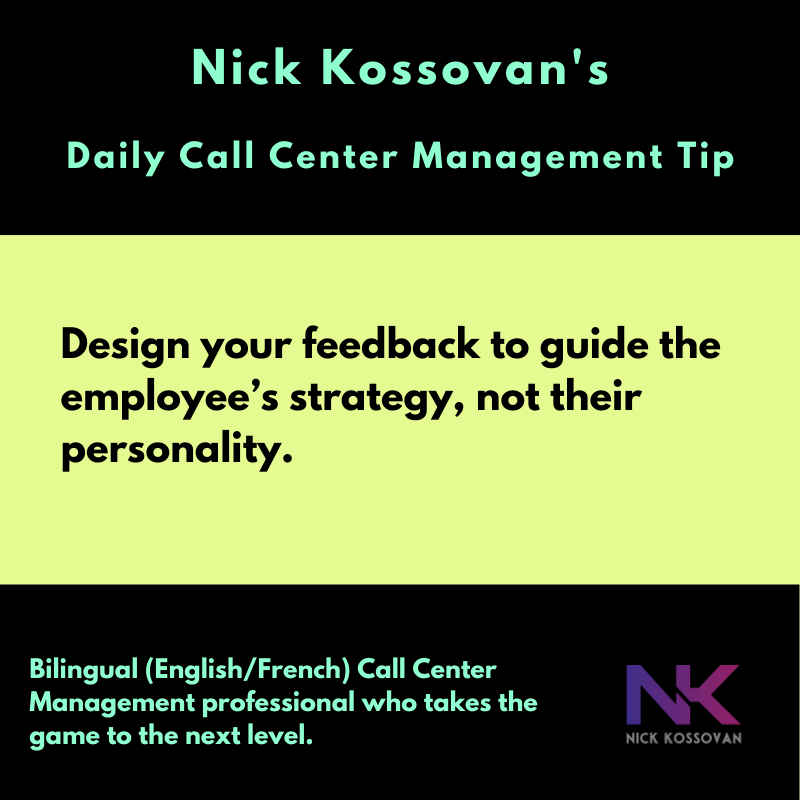 Daily Call Center Management Tip Nick Kossovan