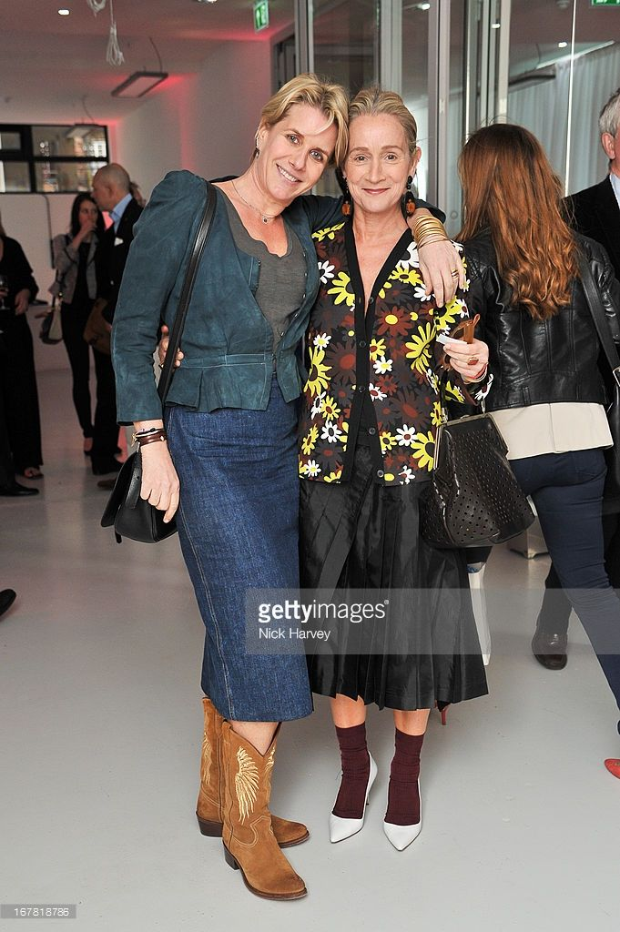 Fiona Golfar And Lucinda Chambers Attend The Opening Of The Conde Nast College Of Fashion And Design On April 30 2013 In Fashion Fashion Design Advanced Style