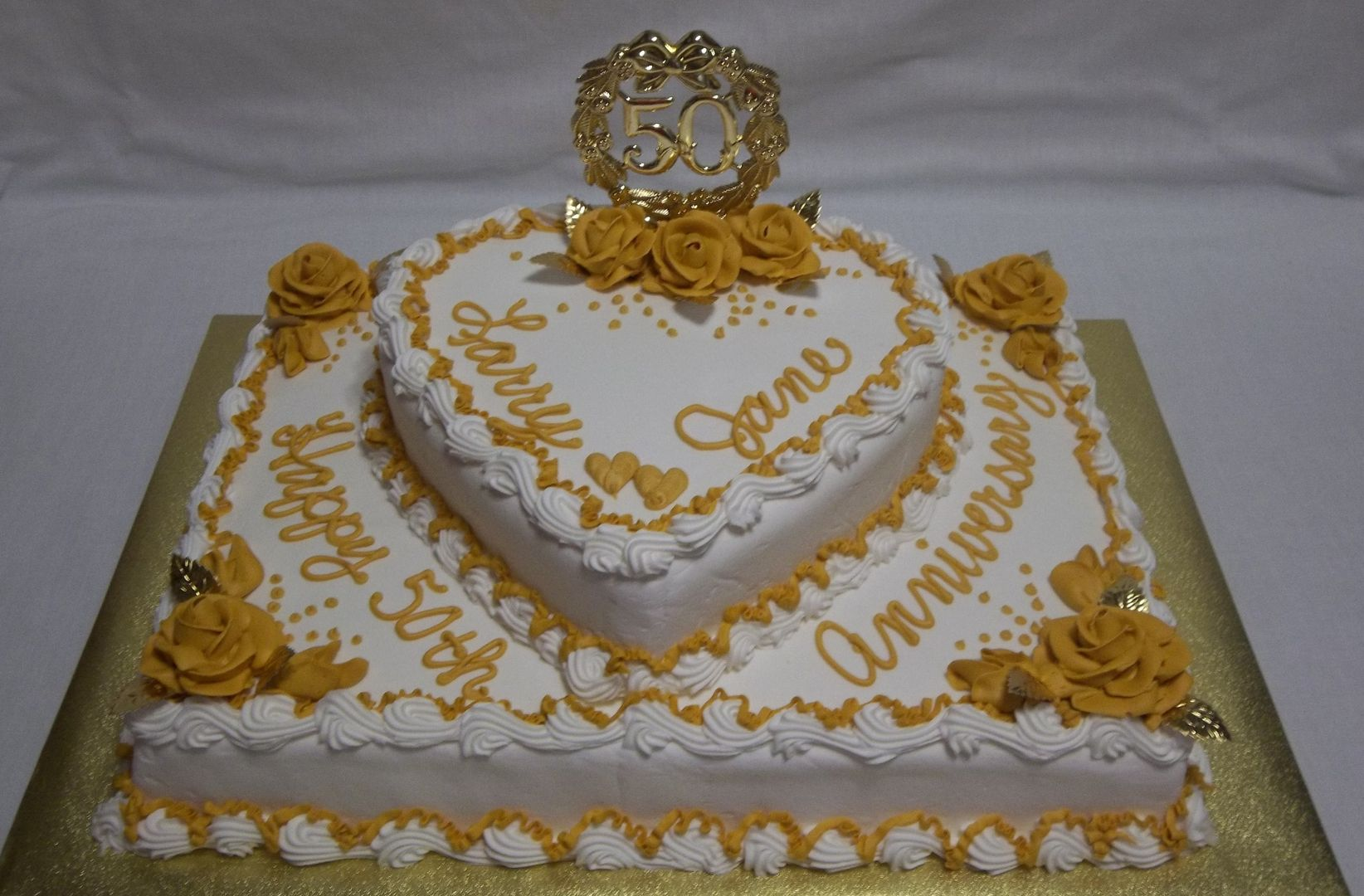 Image result for 70th wedding anniversary cake ideas