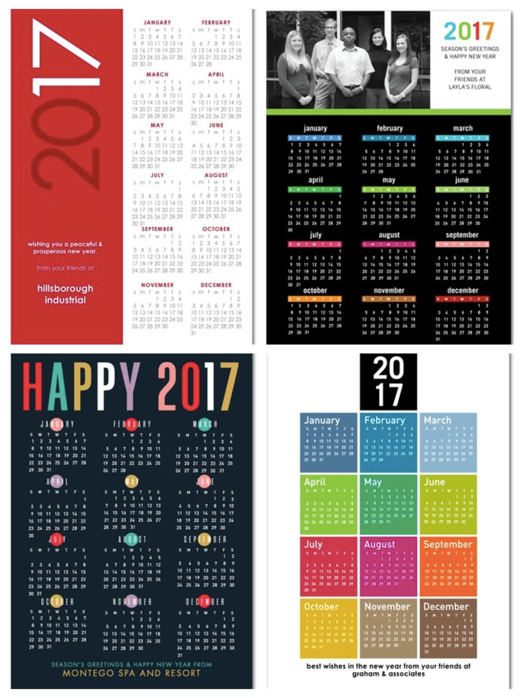 Calendar business holiday cards real estate closing gifts pinterest send new year cards business holiday reheart Choice Image