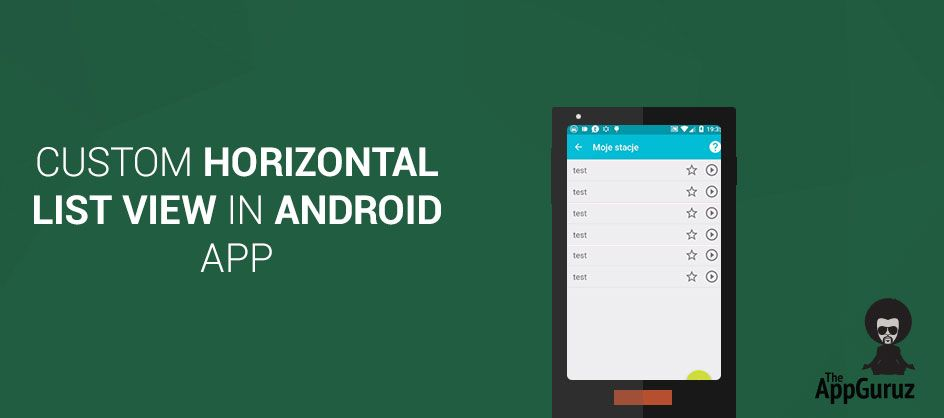 Custom #Horizontal List View in #Android App | Android
