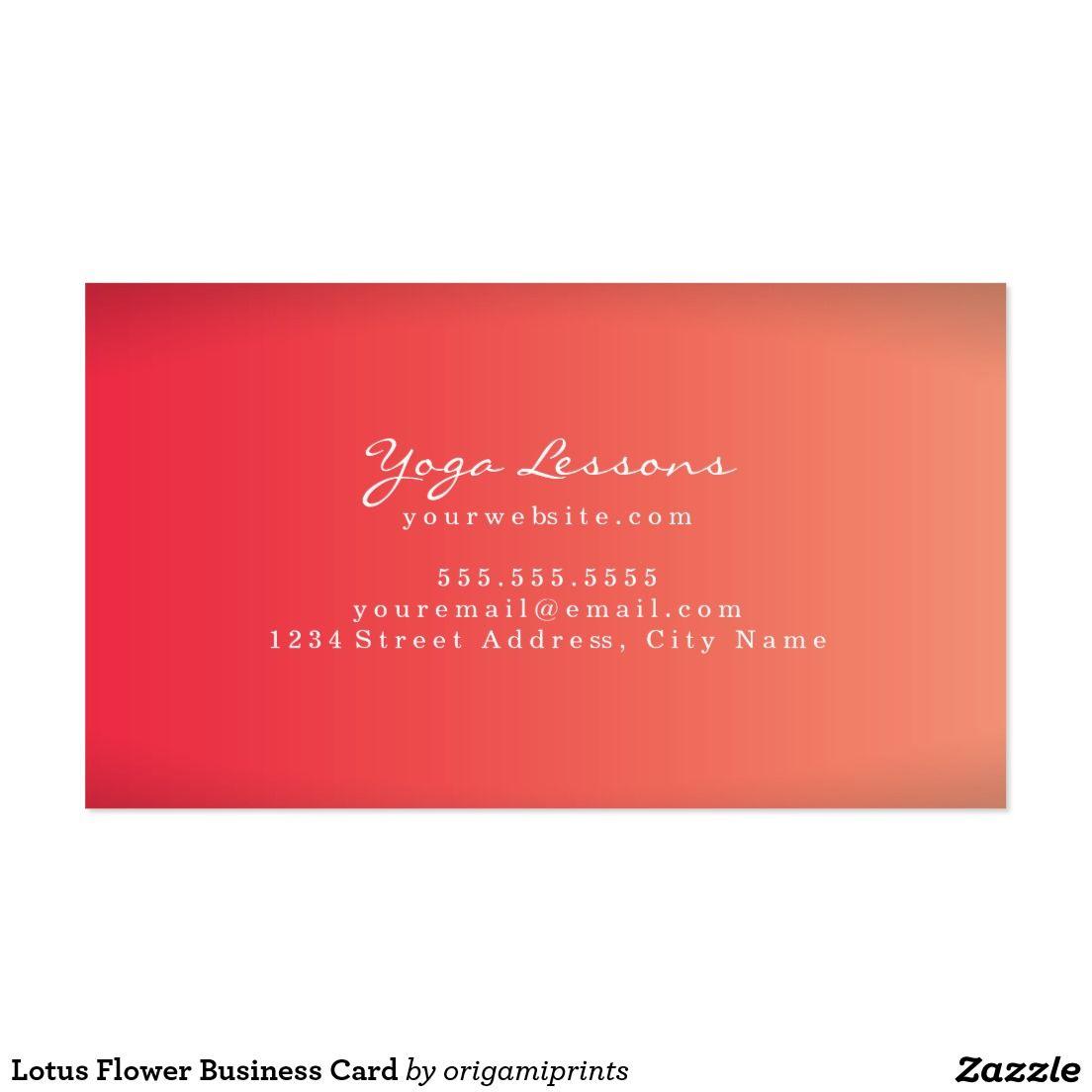 Lotus Flower Business Card | yoga mood board | Pinterest