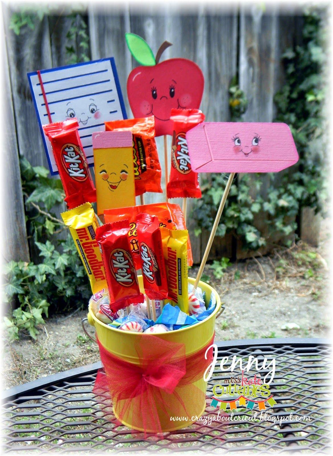 Crazy about cricut teacher candy bouquet with miss kate