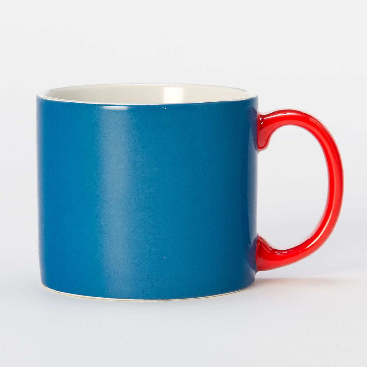 Blue Two-Tone Mug | Kitchen dining, Dinnerware and Dining