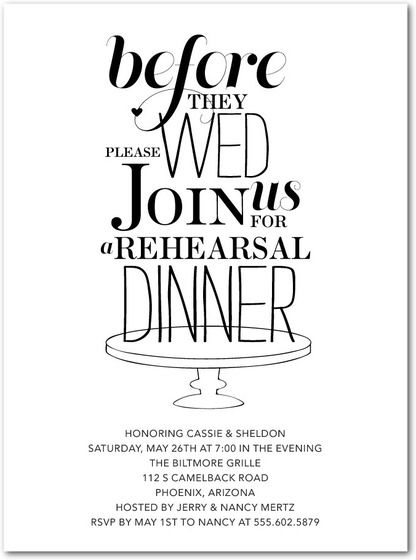 Rehearsal dinner invitations samples rehearsal dinners dinners rehearsal dinner invitations samples junglespirit Image collections