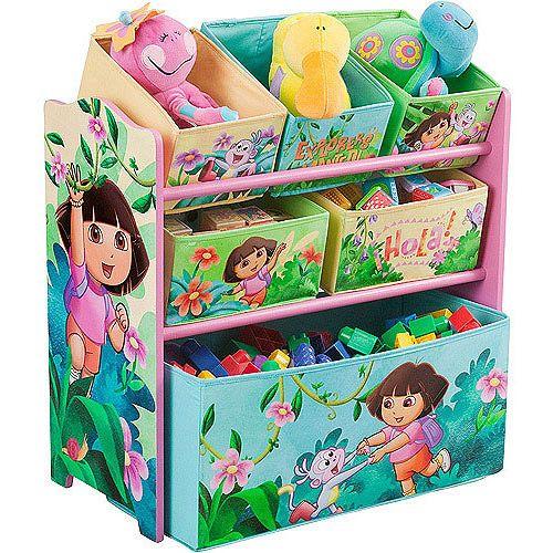 Character Corner - Toddler/Kids Playroom Multi-Bin Toy Organizer (Select Favorite Character): Kids & Teen Rooms : Walmart.com